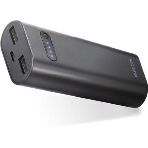 モバイルバッテリー リチウムイオン電池 おまかせ充電対応 6400mAh 2.6A ブラック ( 1コ入 )/ エレコム(ELECOM)|soukai