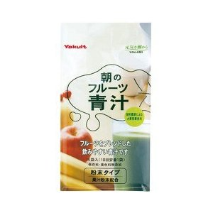 ヤクルト 朝のフルーツ青汁 ( 7g*15袋入 )/ 元気な畑 ( バナナ 青汁 ケール ヤクルト 大麦若葉 サプリメント )