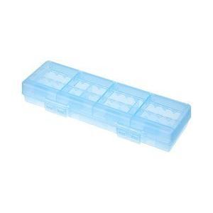 サンワサプライ 電池ケース 単3形 単4形対応 大容量タイプ ブルー DG-BT6BL ( 1コ入 )/ サンワサプライ|soukai