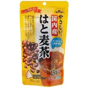 健茶館 やさしい国内産はと麦茶 ( 15袋入 )/ 健茶館
