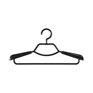 ベストライン 形態安定シャツ用ハンガー ブラック ( 2本組 )/ ベストライン(Best Line)の写真
