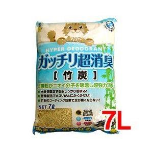 猫砂 スーパーキャット がっちり超消臭 竹炭 ( 7L )/ スーパーキャット ( 猫砂 ねこ砂 ネコ砂 木 ペット用品 )