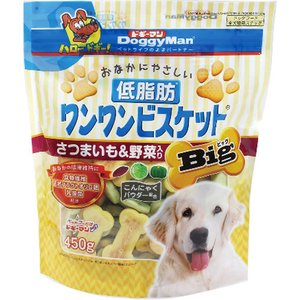 ドギーマン 低脂肪ワンワンビスケット ビッグ さつまいも&野菜入り ( 450g )/ ドギーマン(Doggy Man)