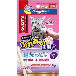 キャティーマン 猫ちゃんホワイデント ストロング ツナ味 ( 25g )/ キャティーマン|soukai