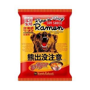 北海道熊出没注意ラーメン 醤油味 ( 112g )...