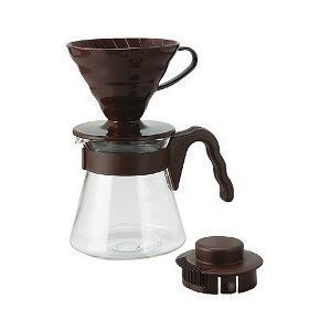 ハリオ コーヒーサーバー V60 02セット 1〜4杯用 ブラウン ( 1セット )/ ハリオ(HARIO)