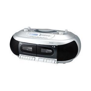 コイズミ CDダブルラジカセ シルバー SAD-4937/S ( 1台 )/ コイズミ soukai