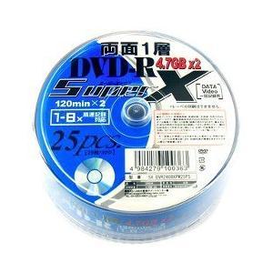 SuperX 一層記録タイプ DVD-R 28倍速 9.4GB 240分 SX DVR240 8X PW25PS ( 25枚入 )|soukai