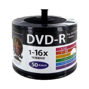 ハイディスク データ用 DVD-R 16倍速 ワイドプリンタブル HDDR47JNP50SB2 ( 50枚入 )/ ハイディスク(HI DISC)|soukai