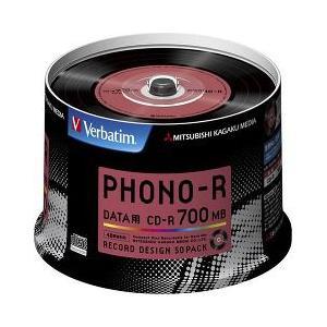 バーベイタム CD-R フォノアール 700MB PCデータ用 48倍速対応 50枚 SR80PH50V1 ( 1セット )/ バーベイタム|soukai
