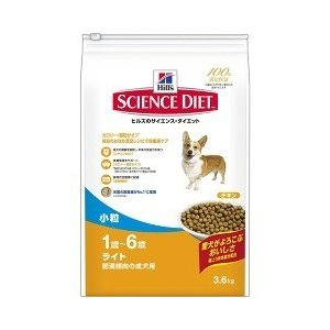 サイエンス・ダイエット ライト 小粒 肥満傾向の成犬用 ( 3.6Kg )/ サイエンスダイエット ( ドッグフード ドライ 無着色 )
