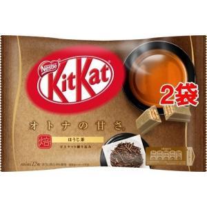 キットカット ミニ オトナの甘さ ほうじ茶 ( 12枚入*2袋セット )/ キットカット ( チョコ...
