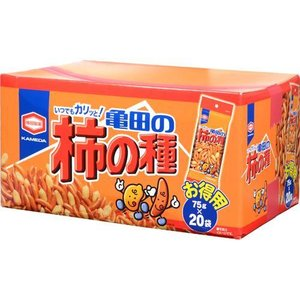 亀田の柿の種 BOX ( 75g*20袋 )/ 亀田の柿の種 soukaidrink