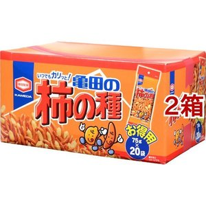 亀田の柿の種 BOX ( 75g*20袋入*2箱セット )/ 亀田の柿の種 soukaidrink