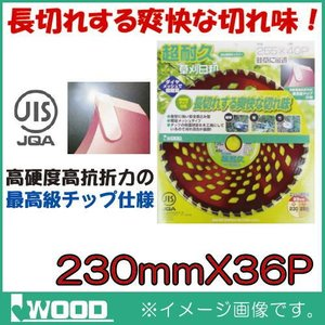 超耐久 刈払機用チップソー 230mm 1枚 IWOOD|soukoukan