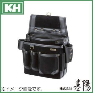 基陽 超高密度ネイルバッグB型 ブラック 24206 KH 腰袋|soukoukan