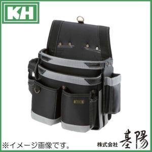 基陽 超軽量ネイルバッグW型 ブラック 24300 KH 腰袋|soukoukan
