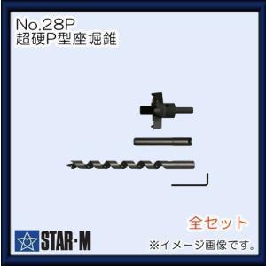 スターエム 超硬P型座堀錐 No.28P 28P-S1560(全セット) STAR-M|soukoukan
