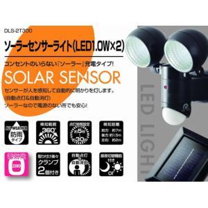 ソーラーセンサーライト 2灯式 DLS-2T300 大進|soukoukan