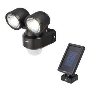 乾電池式+ソーラー充電式LEDハイブリットセンサーライト2灯 DLH-200B 大進|soukoukan