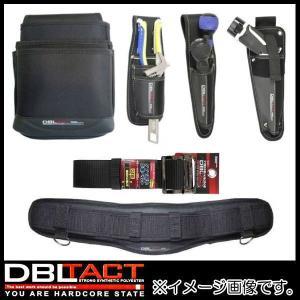 ブラック 3段腰袋+工具差し+サポーター+ベルト Mサイズ DT-03-BK-SET DBLTACT|soukoukan