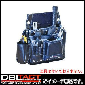 DBLTACT 本革釘袋 2段 DTL-11-BK ブラック 腰袋|soukoukan