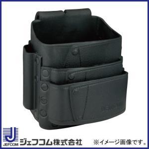 デンサン ソフトプラポーチ ポケット3段式 ブラック DPP-864M-BK ジェフコム 大決算セール|soukoukan