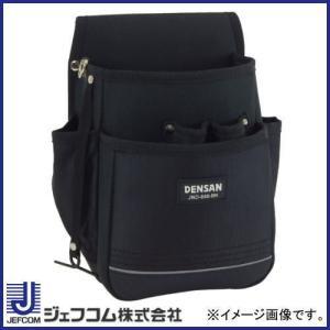 電工プロキャンバスポーチ JND-860-BK デンサン ジェフコム 腰袋|soukoukan