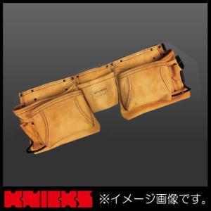 ニックス 最高級2x2ポケットレザーツールバッグ釘袋(ベルト一体型) KCA-9504 KNICKS KCA9504|soukoukan