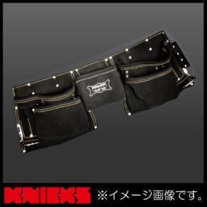 ニックス 最高級2x2ポケットレザーツールバッグ釘袋(ベルト一体型) KCA-9505B KNICKS KCA9505B|soukoukan