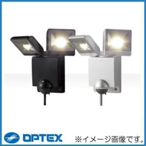 LEDセンサライトON/OFFタイプ LED二灯タイプ LA-22LED ブラック オプテックス OPTEX|soukoukan