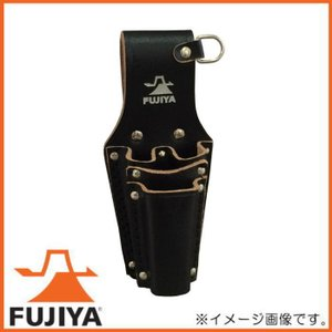 高級黒革製ホルダー ペンチ・ドライバー2段差し LP-4DSB フジ矢 FUJIYA|soukoukan