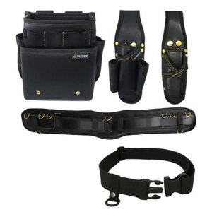 腰道具セット 腰袋2段(黒金) PS-22BG-SET Mサイズ フジ矢 FUJIYA