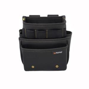 腰袋スタンダード3段(黒金) PS-23BG フジ矢 FUJIYA PS23BG|soukoukan