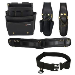 腰道具セット 腰袋3段(黒金) PS-23BG-SET Mサイズ フジ矢 FUJIYA soukoukan