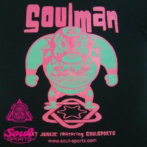 ART JUNKIE TOKYOコラボレーション「SOULMAN 1」Tシャツ ブラック soul-sports 04