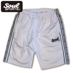 SOUL SPORTSオリジナル ジャージショートパンツ ホワイト|soul-sports