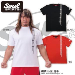 SOUL SPORTSオリジナル テープ柄ロゴTシャツ soul-sports