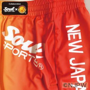 新日本プロレス×SOUL SPORTSコラボ グラデーション総柄転写プリントショートパンツ 2017新作|soul-sports|06