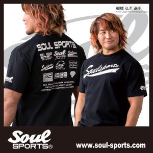 SOUL SPORTSオリジナル フェス風集合ロゴ半袖Tシャツ ブラック/ホワイト|soul-sports|02