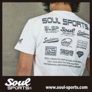 SOUL SPORTSオリジナル フェス風集合ロゴ半袖Tシャツ ブラック/ホワイト|soul-sports|15