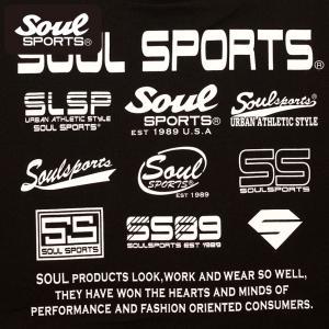 SOUL SPORTSオリジナル フェス風集合ロゴ半袖Tシャツ ブラック/ホワイト|soul-sports|08
