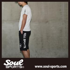 SOUL SPORTSオリジナル 袖テープロゴプリント半袖Tシャツ ブラック/ホワイト 2019新作 soul-sports 12