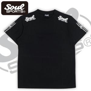 SOUL SPORTSオリジナル 袖テープロゴプリント半袖Tシャツ ブラック/ホワイト 2019新作 soul-sports 03
