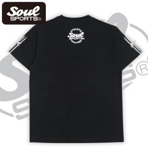 SOUL SPORTSオリジナル 袖テープロゴプリント半袖Tシャツ ブラック/ホワイト 2019新作 soul-sports 04