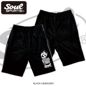 SOUL SPORTSオリジナル ラグラン切替半袖ジャージ上下セット2018新作 ブラック×バーガンディー/ネイビー×ホワイト|soul-sports|05