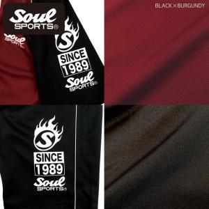 SOUL SPORTSオリジナル ラグラン切替半袖ジャージ上下セット2018新作 ブラック×バーガンディー/ネイビー×ホワイト|soul-sports|06