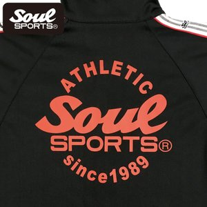 SOUL SPORTSオリジナル 袖テープ付きジャージ上下セット 2018新作 ブラック/ネイビー|soul-sports|13