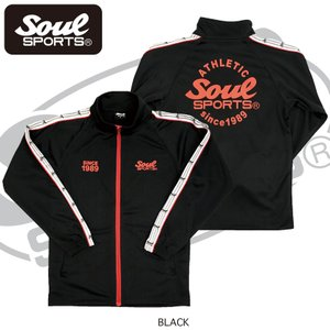 SOUL SPORTSオリジナル 袖テープ付きジャージ上下セット 2018新作 ブラック/ネイビー|soul-sports|03