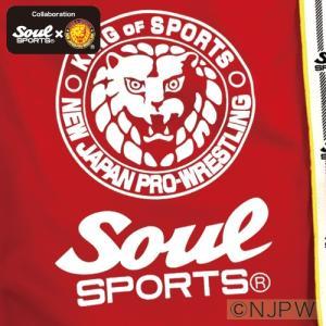 新日本プロレス×SOUL SPORTSコラボ ラインテープ付きショートパンツ レッド 2018新作|soul-sports|05